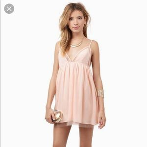 Tobi Baby Doll Dress in Peach (Size S)